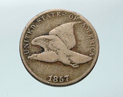 1857 United States Usa Flying Eagle And Wreath Antique Vintage Cent Coin I87687