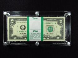 2013 2 United States Federal Reserve Note Pack Of 100 Consecutive Notes
