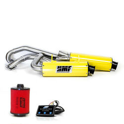 Hmf Can-am Renegade 500 2013 - 2015 Yellow/blk Dual Full Exhaust And Efi + Uni