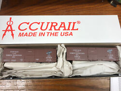 Accurail 1232 - Candnw 36' Double Sheath Wood Boxcar 2-car Set - Chicago And Nw New