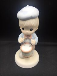 Precious Moments Figurine - Marching To The Beat Of Freedom's Drum