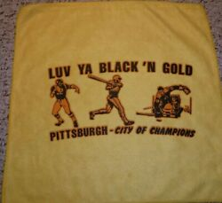 Pittsburgh Steelers Penguins Pirates City Of Champions Terrible Towel Vintage