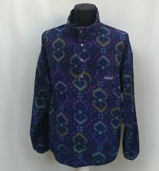 Vintage 1994 Snap-t Synchilla Pullover Fleece Jacket Size L Made Usa