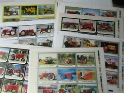 Country Toy Room 7 Uncut Sheets 1992 - 96 Tractor Trading Card Lot