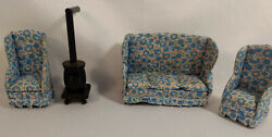 4 Pieces Vintage Dollhouse Furniture For Living Room Chairs 4 Tall