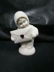 Dept 56 Snowbabies Extra Special Delivery Heart Jewel Envelope Figure In Box