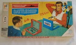 Mom Sister Cleaning Vintage Battleship 1960's Edition Mb Naval Combat Board Game