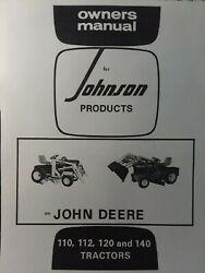 Johnson 10tc And 12a Front End Loader Lawn Garden Tractor Owner And Parts Manual