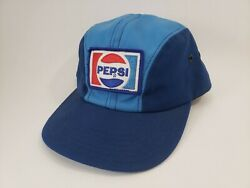 Vtg Pepsi Patch Hat Rare Unitog Blue Fitted Employee Uniform Collectibleandnbsp