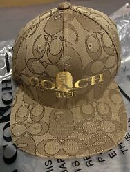 Coach X Bape Cap Hat New With Tags