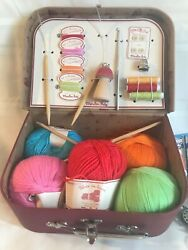 Moulin Roty Les Valises Toy Sewing Kit/travel Case France + Bonus Sewing Items