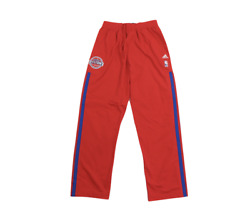 New Adidas Nba Authentics Detroit Pistons Team Issued On Court Pants Red Xl +2