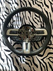 18-21 Ford Mustang Alcantra Steering Wheel Extended Paddle Shifters