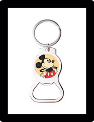 Classic Mickey Mouse Art Custom Bottle Opener Keychain Key Ring Cool Unique Gift