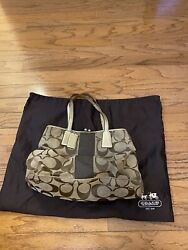 Authentic Coach leather bags handbags Brown gold E1082 F13533. X4 $19.99