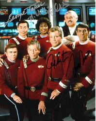 Star Trek The Wrath Of Khan Cast Signed 10x8 Col Photo Autographed