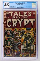 Tales From The Crypt 33 - E.c. 1953 - Cgc 4.5 - Origin Of The Crypt Keeper