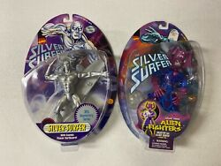 Toy Biz Figure 2 Silver Surfer Galactus Silver Surfer Bubbles In Tact From 1993