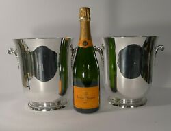 Smart Pair French Champagne Buckets By Ercuis C.1960