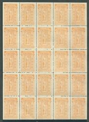 Canada Revenue Bcl38 Mint British Columbia Law Stamp Sheet