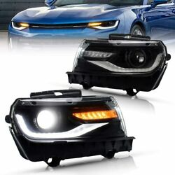 Led Headlights For Chevy Camaro 5th Gen 2014 2015 Chevrolet Dual Beam Front Lamp