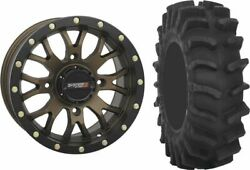 Mounted Wheel And Tire Kit Wheel 18x7 4+3 4/137 Tire 33x9.5-18 8 Ply