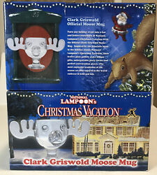 2 National Lampoonand039s Christmas Vacation Clark Griswold Glass Moose Mugs