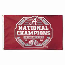 Alabama Crimson Tide 2020 National Champions 3'x5' Deluxe Flag New Wincraft 🐘