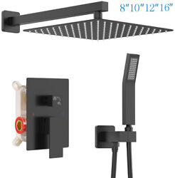 2 Function Shower Faucet System Combo Set Rainfall Head Mixing Valve Wall Mount