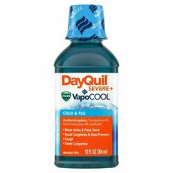 Vicks Dayquil Severe + Vapocool Cold And Flu Relief Liquid   12 Oz   12 Pack