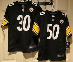 2 Nike Pittsburgh Steelers 30 Conner 50 Shazier Black Home Jerseys Youth L Lot