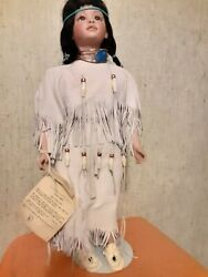 Hal Stewart Native American Indian Porcelain Doll Limited Edition