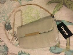Dune LONDON Evening Crossbody Bag Silver Size 10quot; x 6quot; New With Tag $25.00