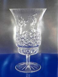 Wedgwood Crystal Sovereign Hurricane Lamp 2-pc Mini Signed 8 Inches Tall