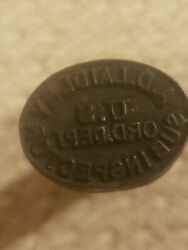 Very Rare Civil War Stamp A.d. Laidley U.s. Ord. Photo Of Cartridge Box Stamped