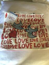 Brighton Tote On the Wings of Doves Love Heart Cotton Canvas New NWT $35.00