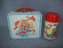 Vintage 1970's Junior Miss Metal Lunchbox W/matching Thermos By Aladdin