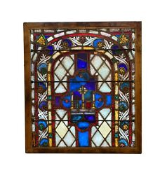 19th Century German Ecclesiastical Stained Glass Window