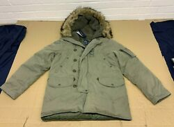 Polo Menand039s Military Faux Fur Trim Parka Small New Rrp Andpound600