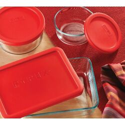 Pyrex 1083952 Clear Glass Food Storage Containers With Lids - 14 Pieces