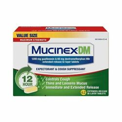 Mucinexdm Maximum Strength Expectorant And Cough Supressant Tablets 42 Ct 12pk