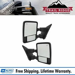 Trail Ridge Tow Mirror Power Fold Extend Heat Turn Memory Textured Pair For Ford
