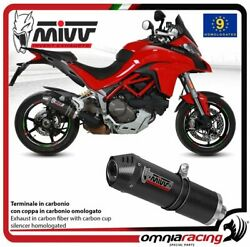 Mivv Oval Exhaust Homologated Carbon For Ducati Multistrada 1200 15/ 1260 2018