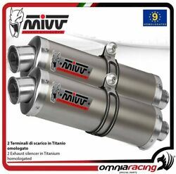 Mivv Oval Pair Of Exhaust Homologated Titanium For Cagiva Raptor 650 2001