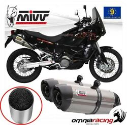 Approved Exhaust Mivv Suono Steel + Catalyst Ktm Lc8 990 Adventure 20062014