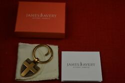 James Avery Retired Bronze Key Keeper Never Fear I Am With You In Box W/bag