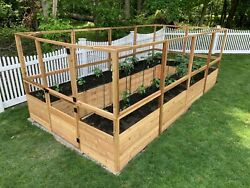 Outdoor Living Today Garden In A Box Raised Bed With Deer Fence Kit - 8 X 16 Ft.
