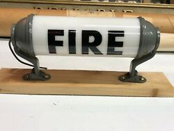 1940and039s Vintage Milk Glass Fire Accessory Light Old Firetruck Cab Fire Display