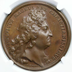 1694 France Ships Taken From Holland 9yr War Naval French Medal Token Ngc I87860