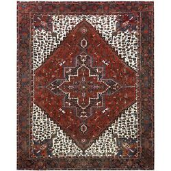 9and0395x11and0397 Semi Antique Farsian Heris Colorful Hand Knotted Oriental Rug R60149